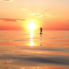 Sunset paddle!