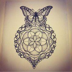mandala butterfly tattoo - Поиск в Google