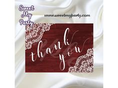 Rustic Wedding Thank You card,Vintage Lace Wedding Thank you card,rustic wedding thank you card, wood lace wedding thank you cards, vintage lace wedding thank you cards, rustic lace wedding thank you cards DIY,