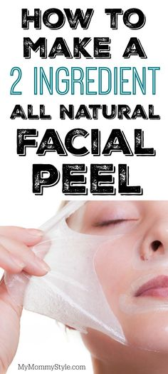 Is your skin feeling dry and flaky? Try this beauty hack with a fast and easy 2 ingredient all natural facial peel.