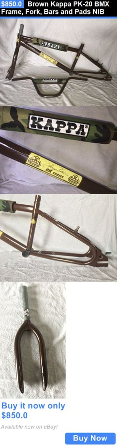 bicycle parts: Brown Kappa Pk-20 Bmx Frame, Fork, Bars And Pads Nib BUY IT NOW ONLY: $850.0