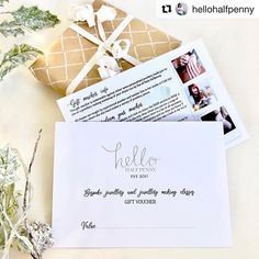 Gorgeous flyer design and gift vouchers for the fabulous Hello Halfpenny. By Fi From Fi&Becs Design ( Gift Voucher Design, Gift Vouchers, Freelance Designer, Very Lovely, Flyer Design, Bff, Branding, Graphic Design, Photo And Video