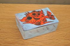 Vintage Pottery Box with Fish Design on Lid. Handmade and Decorated Rectangular Box. Ideal Gift or Home Decor. by GoldenGully on Etsy