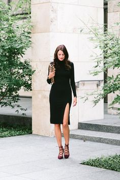 The Miller Affect wearing the perfect little black dress for date night