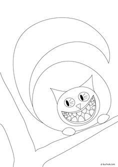 coloriage le chat du cheshire