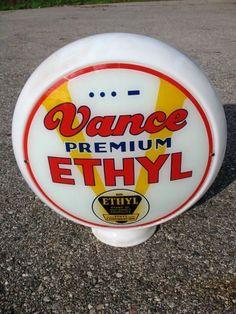 Scarce Vance Ethyl Gasoline Globe