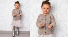 Le gilet fillette point mousse argentTenue de soirée pour petite fille : on tricote le point mousseen ajoutant un fil argent. Elles vont adorer.