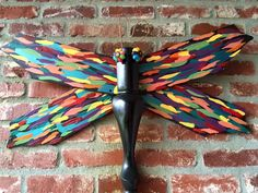 Heart Flash Fly - This upcycled, shabby chic dragonfly created from recycled ceiling fan blades and table leg is perfect lawn ornament and home decor. Check it out on www.wingingthis.com along with all the other original creations by WingingThis