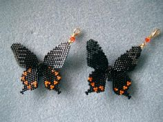 Seed Bead Patterns, Beaded Jewelry Patterns, Beading Patterns, Beaded Animals, Pony Beads, Brick Stitch, Beaded Flowers, Bead Crafts, Beaded Earrings