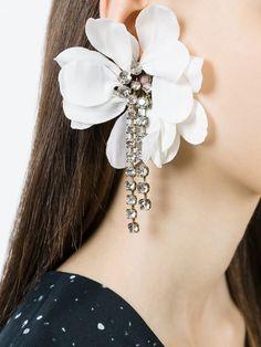 Lanvin Floral Drop Clip-on Earrings - Luisa World - Farfetch.com