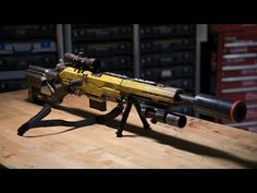 Adam Savage's One Day Builds: Custom NERF Rifle - YouTube (Has some great weathering / metal paint effect tips)