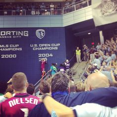 Jimmy Nielsen making good on the target: win the US Open Cup, then #paintthewall