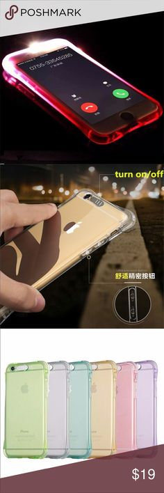 iPhone 6S LED light up case BNWT, new arrival, iPhone 6S LED light up case. Perfect for making your phone look fantastic and stylish. Plus fun when it lights up in the dark! Free gift with purchase🎁 Accessories Phone Cases