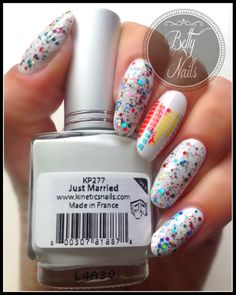Betty Nails: Crazy Polish Lady - Double Rainbow & Kinetics Just Married