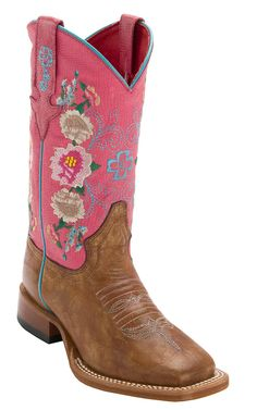 Anderson Bean Youth Antiqued Honey Brown w/ Pink Lizard & Floral Embroidery Top Square Toe Western Boots Western Wear, Western Boots, Country Boots, Macie Bean Boots, Cavenders Boots, Anderson Bean Boots, Boot City, Unicorn Fashion, Honey Brown
