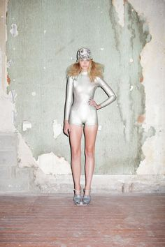 Cynthia Rowley Spring 2013 Look 13 Mother of Pearl Wetsuit