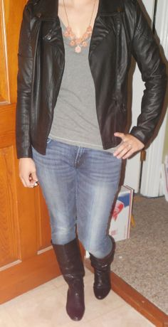 Edgy Biker Jacket OutFit