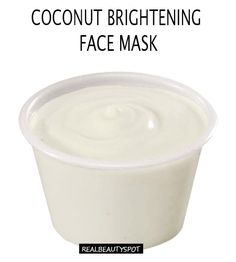Coconut Oil Brightening Face mask - Instantly brighten dull skin with this coconut oil face mask