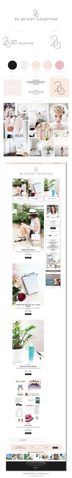 26 And Not Counting Blog Design By White Oak Creative - logo design, wordpress theme, mood board inspiration, blog design idea, graphic design, branding