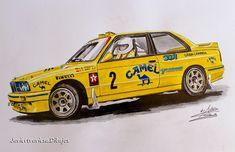 BMW M3 E30 JOSE MARIA PONCE (CAMEL) Dibujo a lápices de colores by javiertraviesa