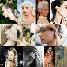 """Oggi vi segnaliamo una delle più interessanti novità di quest'anno in fatto di accessori da abbinare all'acconciatura! Gli """"ear cuffs"""", cioè orecchini che si applicano nella cartilagine laterale dell'orecchio, indossabili da chiunque. Ok, in realtà si tratta di una rivisitazione di un must anni '80, ma non è forse vero che anche le tendenze haircare si stanno dirigendo in questa direzione?"""