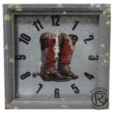 Double Boot On Metal Clock - Keffeler Kreations | HilltopBoutique.com