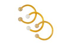 Camille K Signature Cuffs in Pantone colors and Pave stones