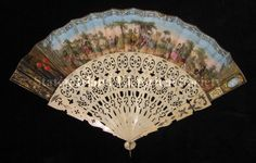 Fan  Dateca. 1830-1850  DescriptionFolding fan (Romantic or Rococo Revival style). (Staten Island Historical Society Collection)
