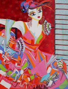 Nadége - 116 x 89 cm - Huile sur toile