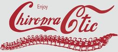 Creative #chiropractic sign - Ironic since soda is really bad for you, but nonethelesss- crative