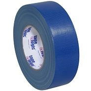 2 Inch Wide Roll of Blue Duct Tape.