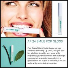 Make your smile POP! Lip gloss that has micro crystals in it to make your smile look whiter! Your Smile, Make You Smile, Ap 24, White Smile, Healthy Skin Care, Beautiful Smile, Anti Aging Skin Care, Teeth Whitening, Beauty Secrets