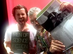 """Dan Feuerriegel - Dennys Ilic Twitter """"Looky who turned up to @CinematicPix #FNTC last night to sign the #MOSF prototype!  yah the awesome @DgFeuerriegel!"""