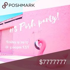 Co-hosting my 3rd Posh Party! 9/29/17 @3:00pm EST Woohoo!!! I am so exited to be co-hosting my 3rd Poshmark party! I am super honored. More details coming soon. I will be updating this listing once I know the theme and looking for Host picks. I hope to see you all there and thanks so much for the support everyone. Happy Poshing! XOXO ✨✨✨✨✨✨ Dresses