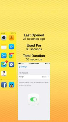 Get App Usage Information on iPhone with SlideForUsage