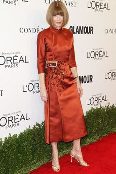 Anna Wintour - Best Dressed at the 2016 Glamour Women of the Year Awards - Photos