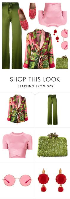 """""""Kimono Jacket"""" by sproetje ❤ liked on Polyvore featuring F.R.S For Restless Sleepers, Marques'Almeida, T By Alexander Wang, Valentino, Ray-Ban, Les Néréides, Tory Burch, Summer, sunglasses and kimono"""