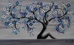 """Título: """"Árvore de Geine"""" Técnica: Acrílica sobre tela Dim: 60 x 90 cm Dez/2015 ACID"""