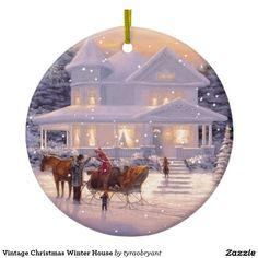 Vintage Christmas Winter House