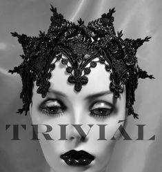 Handmade lace headpiece/crown from Sex and the City 2 created by Triviál. (via The Dark Queen Lace Headpiece by Trivial)