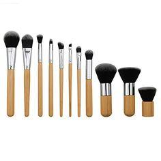 Polytree Professional 11 Pieces Makeup Brush Set Premium Synthetic Kabuki Foundation Blending Blush Eyeliner Face Liquid Powder Cream Cosmetics Kit -- Read more  at the image link. (Note:Amazon affiliate link)