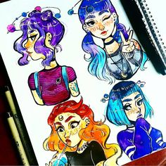Sketchbook Drawing Here is a whole sketchbook page Cartoon Art Styles, Cartoon Sketches, Drawing Sketches, Arte Sketchbook, Sketchbook Pages, Dancing Drawings, Cute Drawings, Character Drawing, Character Design