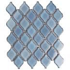 Merola Tile Hudson Tangier Marine in. x 5 mm Porcelain Mosaic - The Home Depot Ceramic Mosaic Tile, Mosaic Wall, Porcelain Tile, Mosaic Glass, Sanded Grout, Kitchen Wall Tiles, Tile Projects, Moroccan Design, Tangier