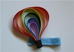 awesome Hot Air Balloon Ribbon Art Sculpture Hair Bow No Slip Clip Balloon Ribbon, Balloon Crafts, Ribbon Art, Diy Ribbon, Ribbon Crafts, Air Balloon, Balloons, Ribbon Hair Clips, Ribbon Hair Bows
