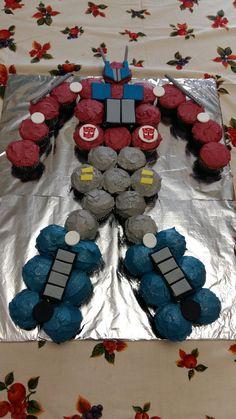 Transformers cupcake cake