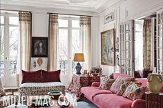 Best of Interior Design and Architecture Ideas Paris Apartment Decor, Paris Apartments, Paris Decor, Parisian Apartment, My Living Room, Home And Living, Living Spaces, Sala Grande, Beautiful Interiors