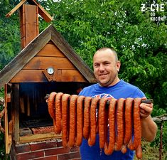 Homemade Sausage Recipes, Meat Recipes, Cooking Recipes, How To Make Sausage, Polish Recipes, Smoking Meat, Charcuterie, Food And Drink, Fish