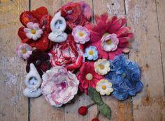Factory Cathy: Stage laine feutrée fleurs à l'aiguille et au savo...
