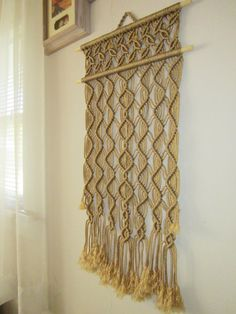 Macrame Wall Hanging Lianas Handmade Macrame Home by craft2joy