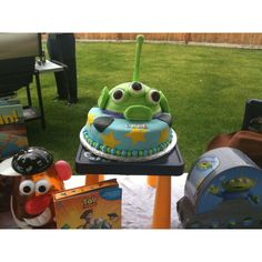 Toy story cake I made for my friends son